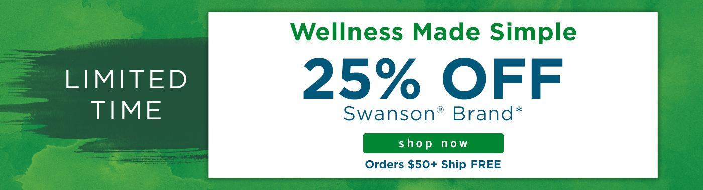 25 off Swanson Brand