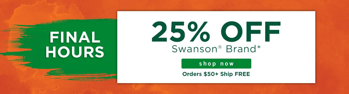 25% off Swanson Brand