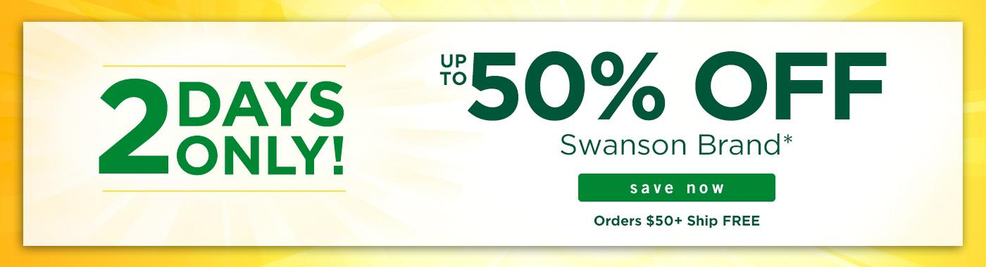 Up to 50% off Swanson Brand