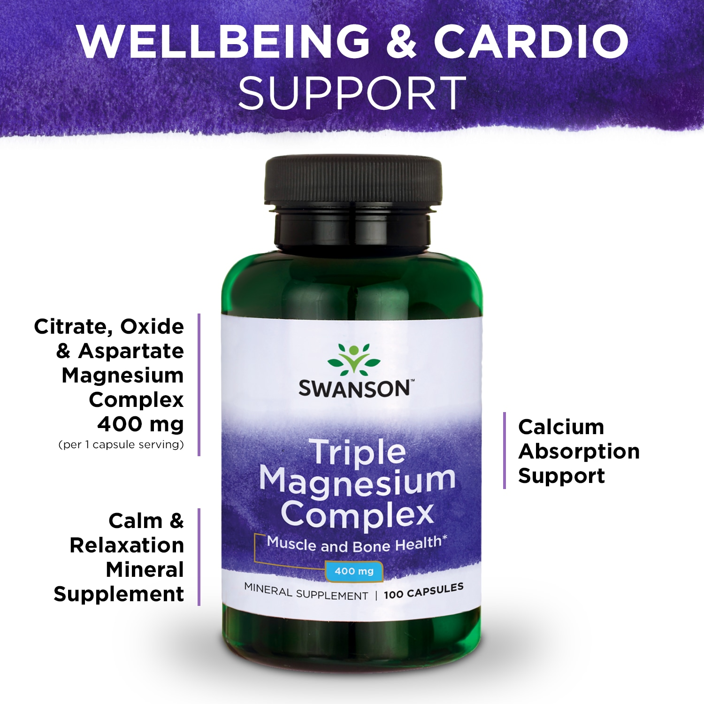 Swanson-Triple-Magnesium-Complex-Capsules-400-mg-100-Ct thumbnail 5