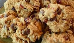 Cranberry Walnut Breakfast Cookies