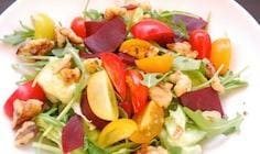 Walnut and Beet Salad with Walnut Oil Vinaigrette