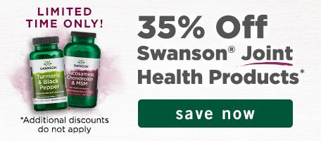 35% off Swanson Joint Products
