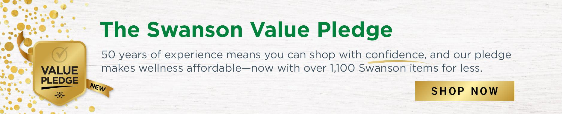 VIew Swanson's Value Pledge