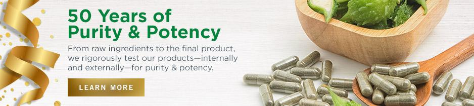 Learn more about testing for purity and potency