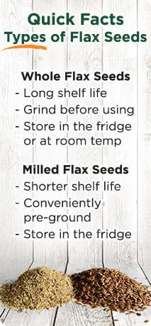 whole vs milled flax seeds