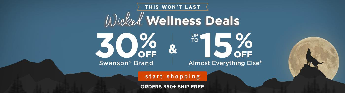 25% OFF Swanson Brand & Up to 15% OFF Almost Everything Else