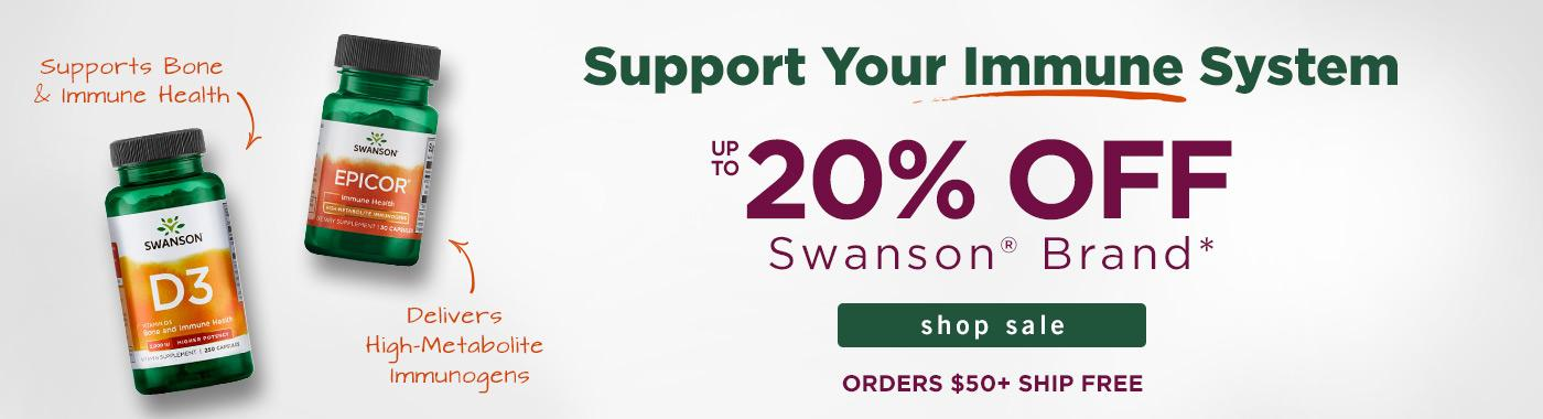 Up to 20% off Swanson Brand
