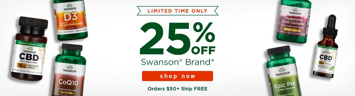25% off Swanson