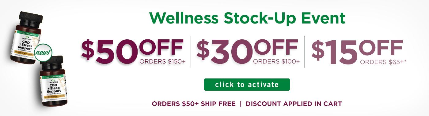 $50 off $150, $30 off $100 or $15 off $65