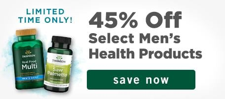 45% off select men's health products. Limited time only. Save now