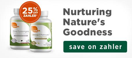 25% off Zahler. Nurturing Nature's Goodness. Save on Zahler