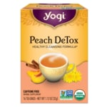 Yogi Tea Té desintoxicante de melocotón