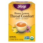 Yogi Tea Throat Comfort con miel y limón
