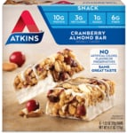 AtkinsDay Break Bar Cranberry Almond
