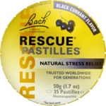 Bach Flower Essences Rescue Remedy Pastilles Black Currant