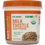 BareOrganics Raw Organic Milk Thistle Seed Powder