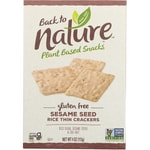 Back To Nature Sesame Seed Rice Thin Crackers