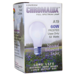 Chromalux Full Spectrum Lamp Light Bulb - A19 Frosted 60W