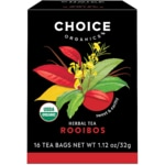 Choice Organic Teas Rooibos Red Bush Tea Caffeine Free