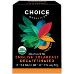 Choice Organic Teas Organic Decaffeinated English Breakfast Tea