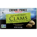 Crown Prince Wild Caught Smoked Baby Clams in Olive Oil