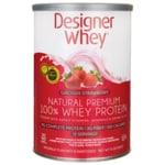 Designer Whey Natural Premium 100% Whey Protein - Luscious Strawberry