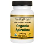 Healthy Origins Espirulina orgánica 100 % natural y sin organismos modificad