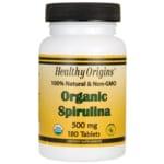 Healthy Origins Espirulina orgánica 100 % natural y sin organismos modificad