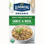 Lundberg Family Farms Whole Grain Rice & Wild Rice - Garlic & Basil
