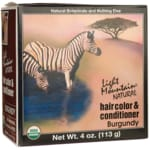 Light Mountain Hair Color & Conditioner - Burgundy