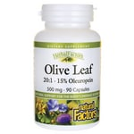 Natural Factors Olive Leaf 20:1 - 15% Oleuropein