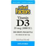 Natural Factors Vitamin D3 Drops