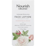 Nourish Organics Face Lotion - Argan + Rosewater
