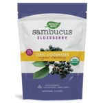 Nature's Way Organic Sambucus Elderberry, Vitamin C, Zinc Lozenges Berry