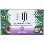 Organic Fiji Face and Body Coconut Oil Soap - Lavender