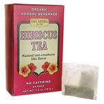 Only Natural Hibiscus Tea No Caffeine - Natural Tart-CranberryFlavor