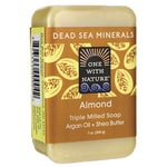 One With Nature Dead Sea Minerals Triple Milled Bar Soap - Almond