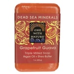 One With Nature Dead Sea Minerals Triple Milled Bar Soap - Grapefruit Guava