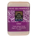 One With Nature Dead Sea Minerals Triple Milled Bar Soap - Lilac