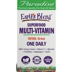Paradise Herbs Earth's Blend One Daily Superfood Multivitamin with Iron