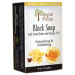 Roots & Fruits Black Soap with Cocoa Butter and Orange Peel