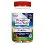 SchiffDigestive Advantage Probiotic Gummies Plus Fiber
