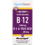 Superior Source B-12 Methylcobalamin with B-6 & Folic Acid