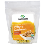 Swanson Organic Certified Organic Cashews Raw, Whole No Salt
