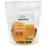 Swanson Organic Certified Organic Pecans Raw, Halved No Salt