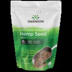 Swanson Organic Semilla de cáñamo orgánico certificado sin cáscara