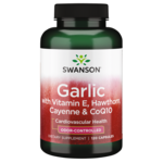 Swanson Best Garlic Supplements Garlic with Vitamin E, Hawthorn Berry & Cayenne