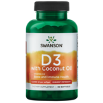 Swanson Ultra High Potency Vitamin D-3 with Certified Organic Coconut