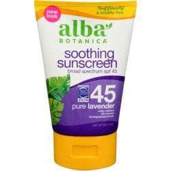 Alba BotanicaVery Emollient Sunscreen SPF 45 - Pure Lavender